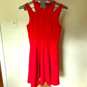Armani Exchange Cutout Fit and Flare Dress